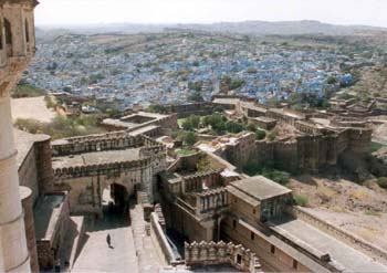 View from the Mehrangarh Fort of the Old Blue City